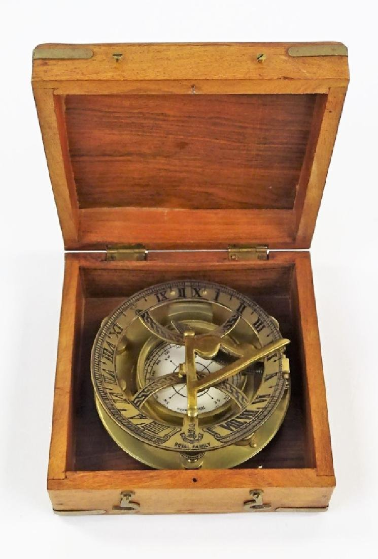 VTG WEST LONDON BRASS SUNDIAL/COMPASS IN BOX