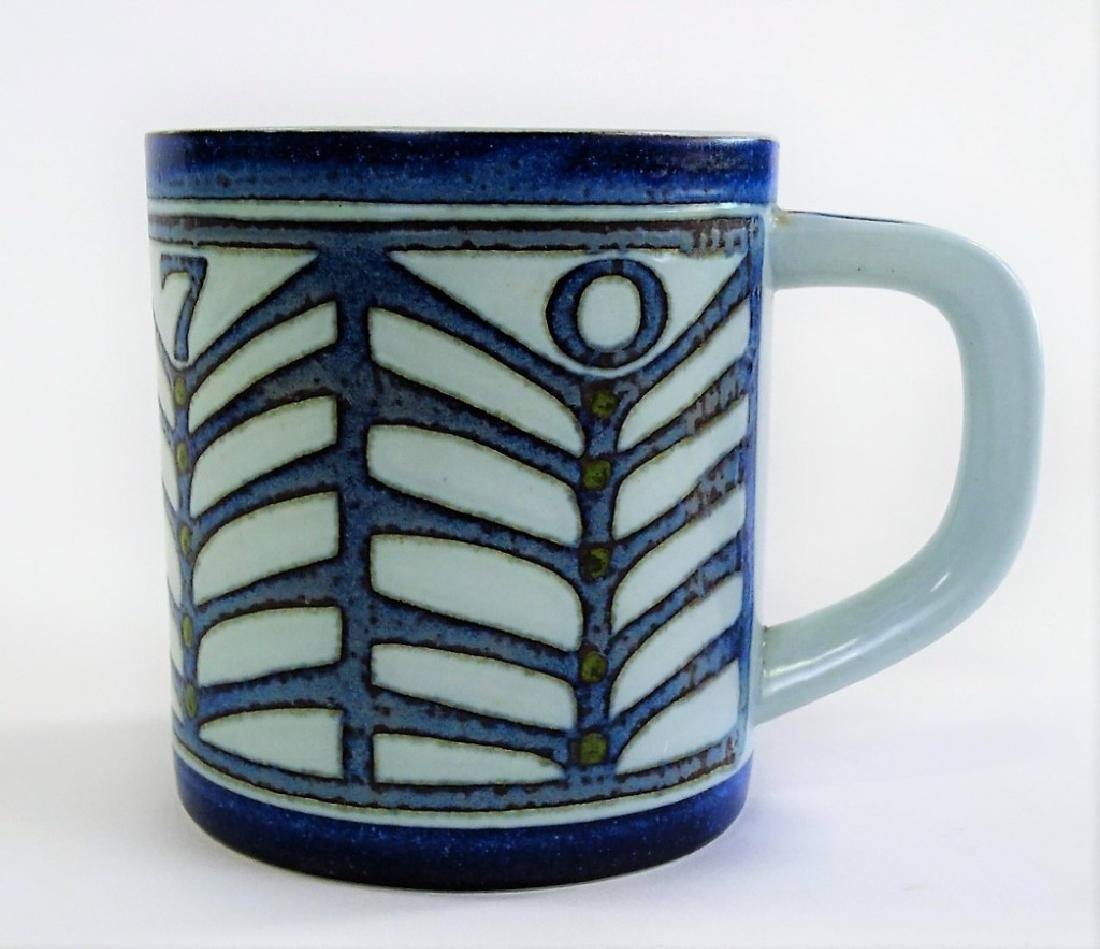 LARGE ROYAL COPENHAGEN PORCELAIN FAIENCE MUG - 2