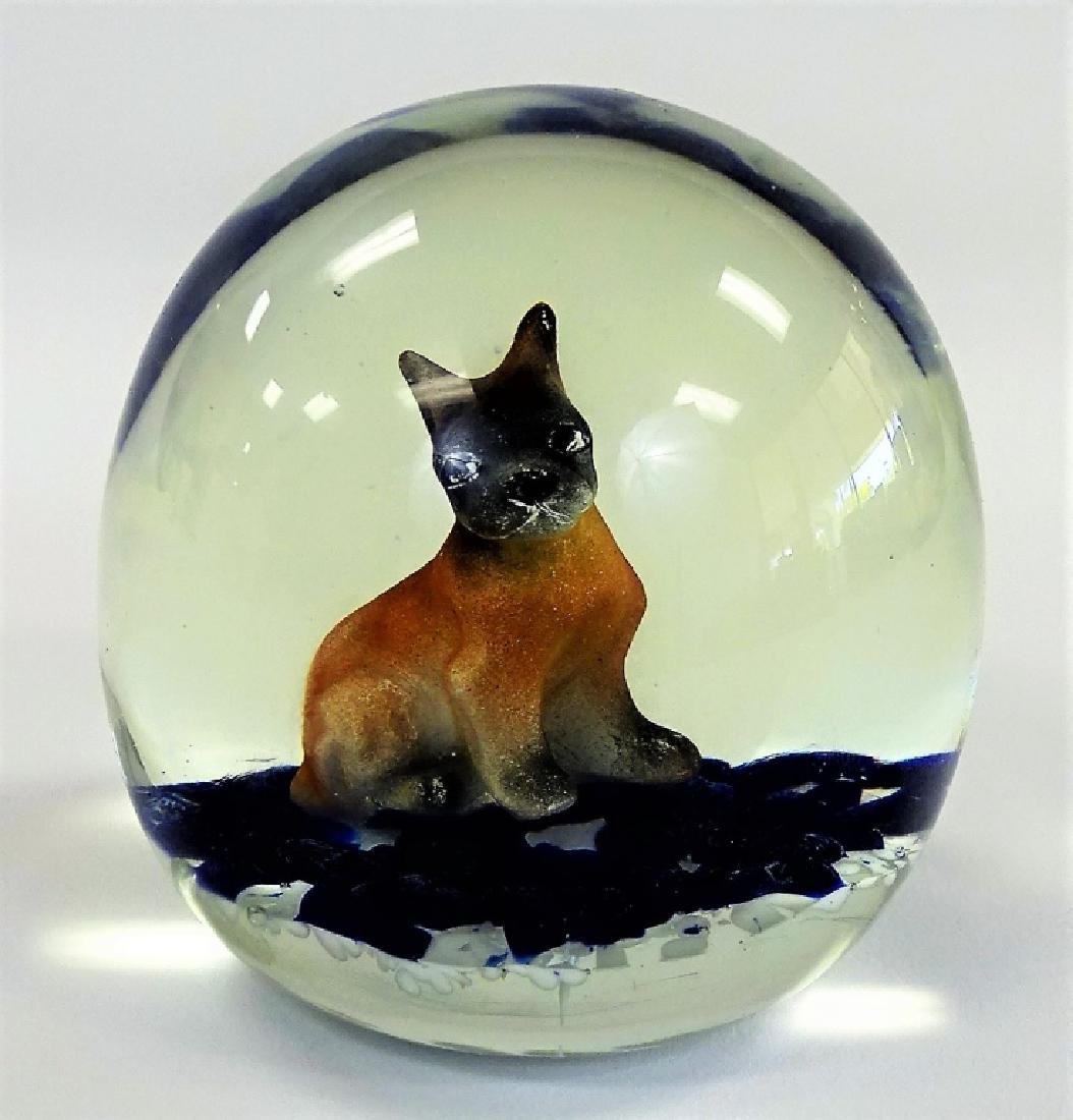 VINTAGE ST CLAIR PAPERWEIGHT WITH SITTING DOG