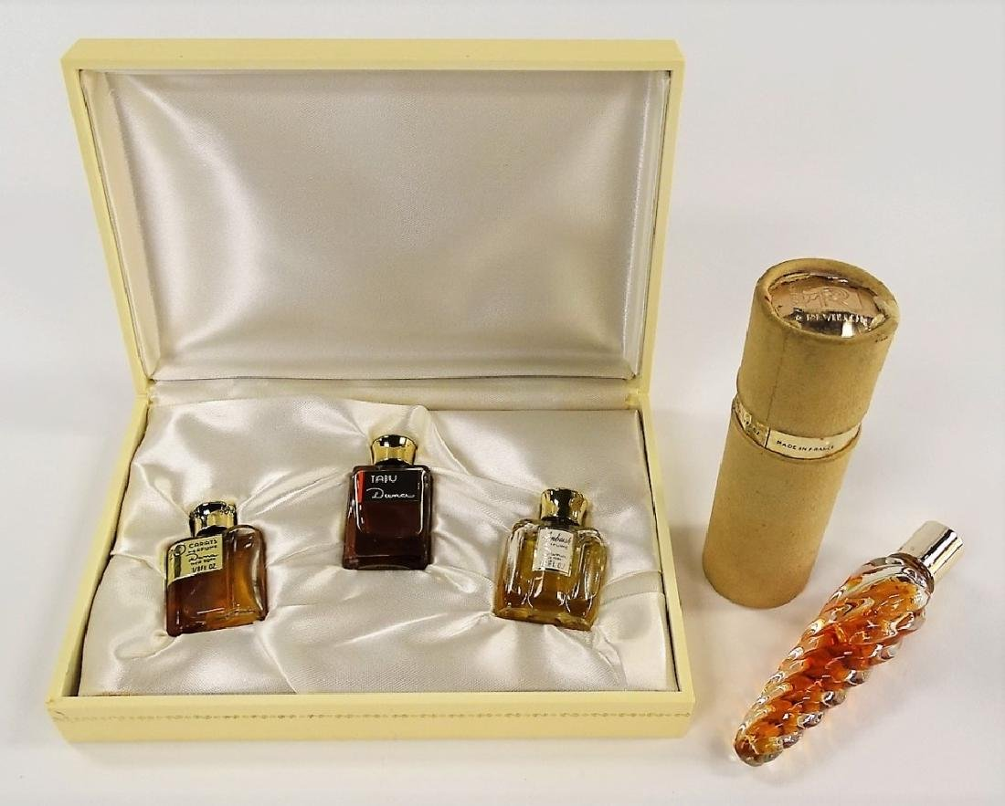 4PC COLLECTION OF VINTAGE PERFUME BOTTLES