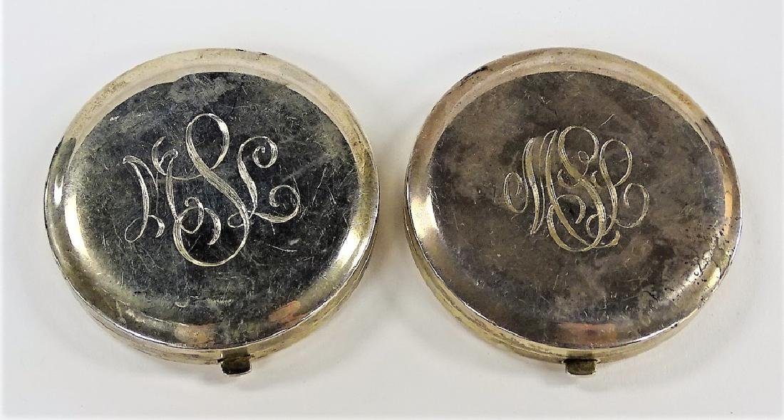 PR TIFFANY ANTIQUE STERLING SILVER COMPACTS