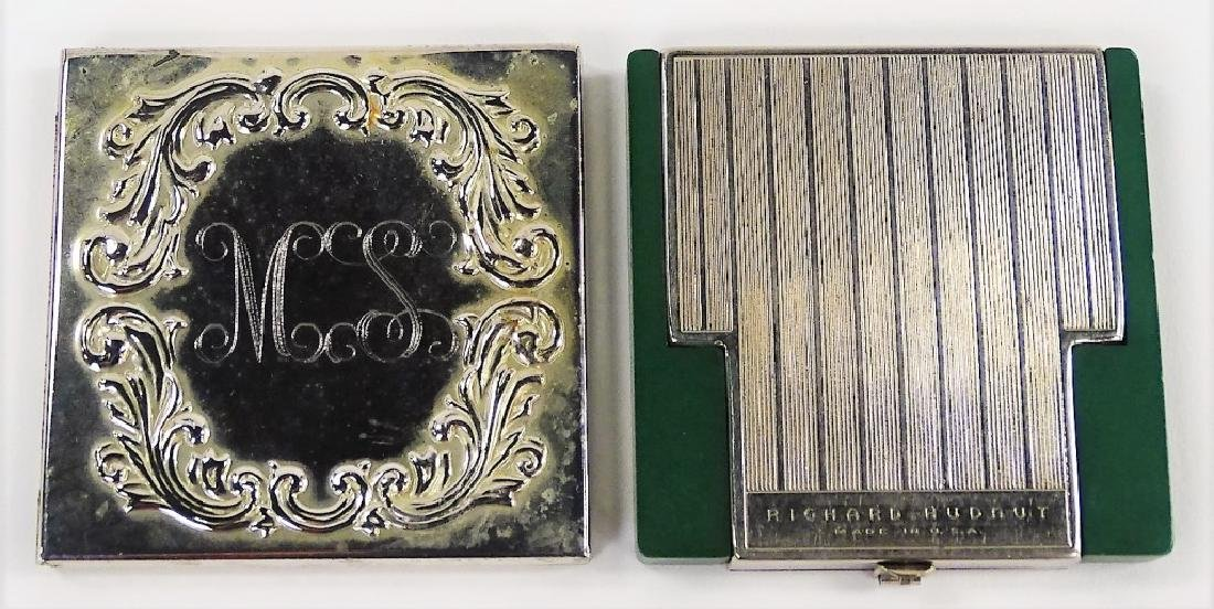 LOT OF 2 VINTAGE SILVER COMPACTS