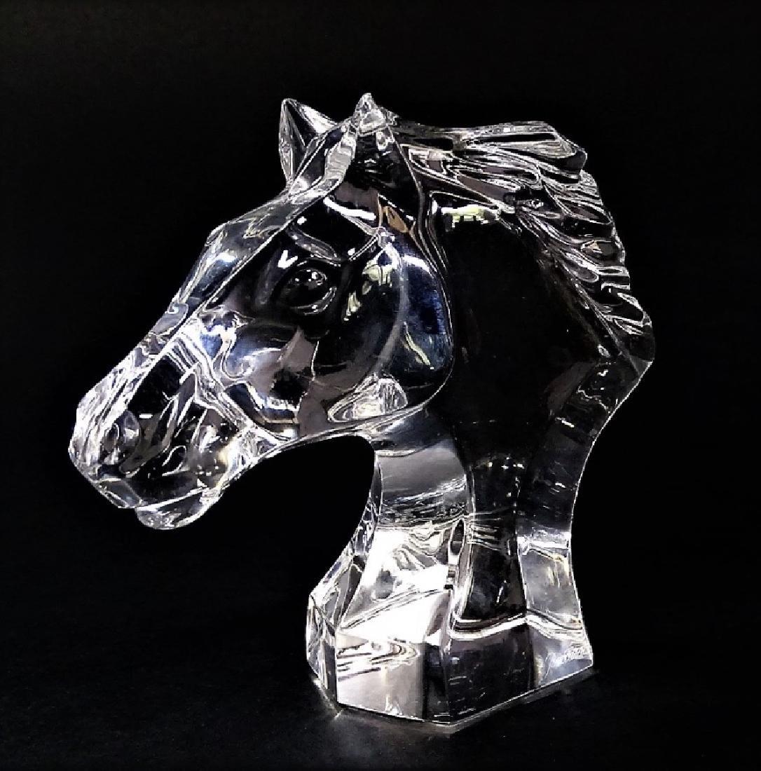 BACCARAT CRYSTAL HORSE HEAD SCULPTURE