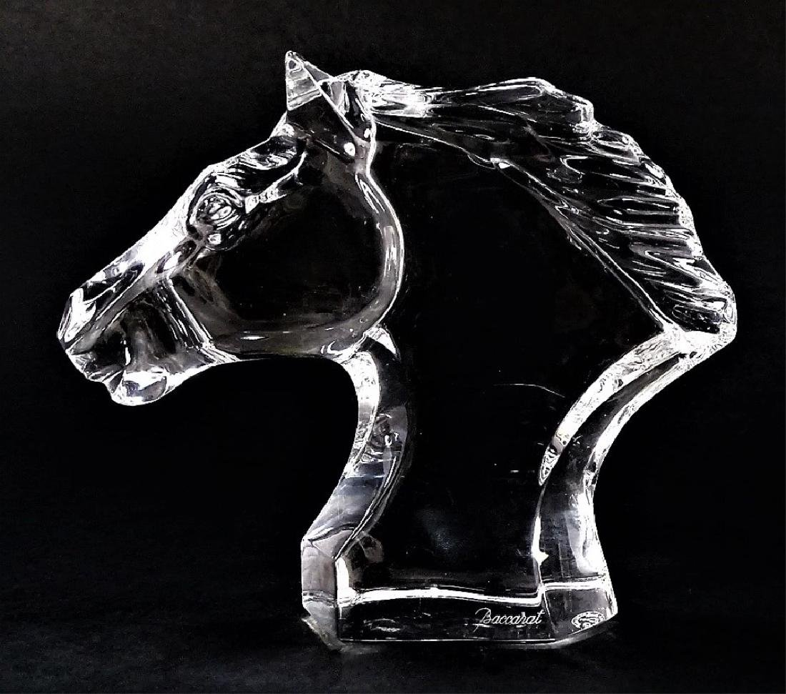BACCARAT CRYSTAL HORSE HEAD SCULPTURE - 2