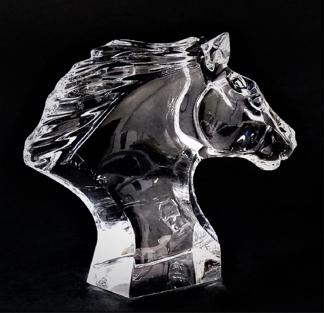 BACCARAT CRYSTAL HORSE HEAD SCULPTURE - 4