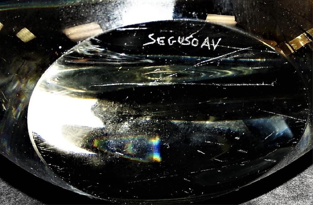 LIVIO SEGUSO MURANO BLOWN LARGE ART GLASS SWANS - 3
