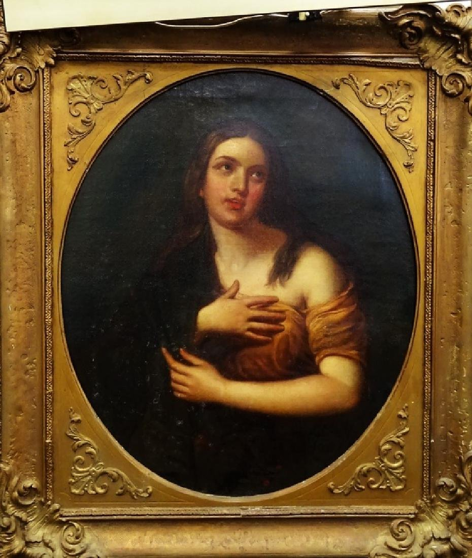 OLD MASTER STYLE PORTRAIT PAINTING ON CANVAS