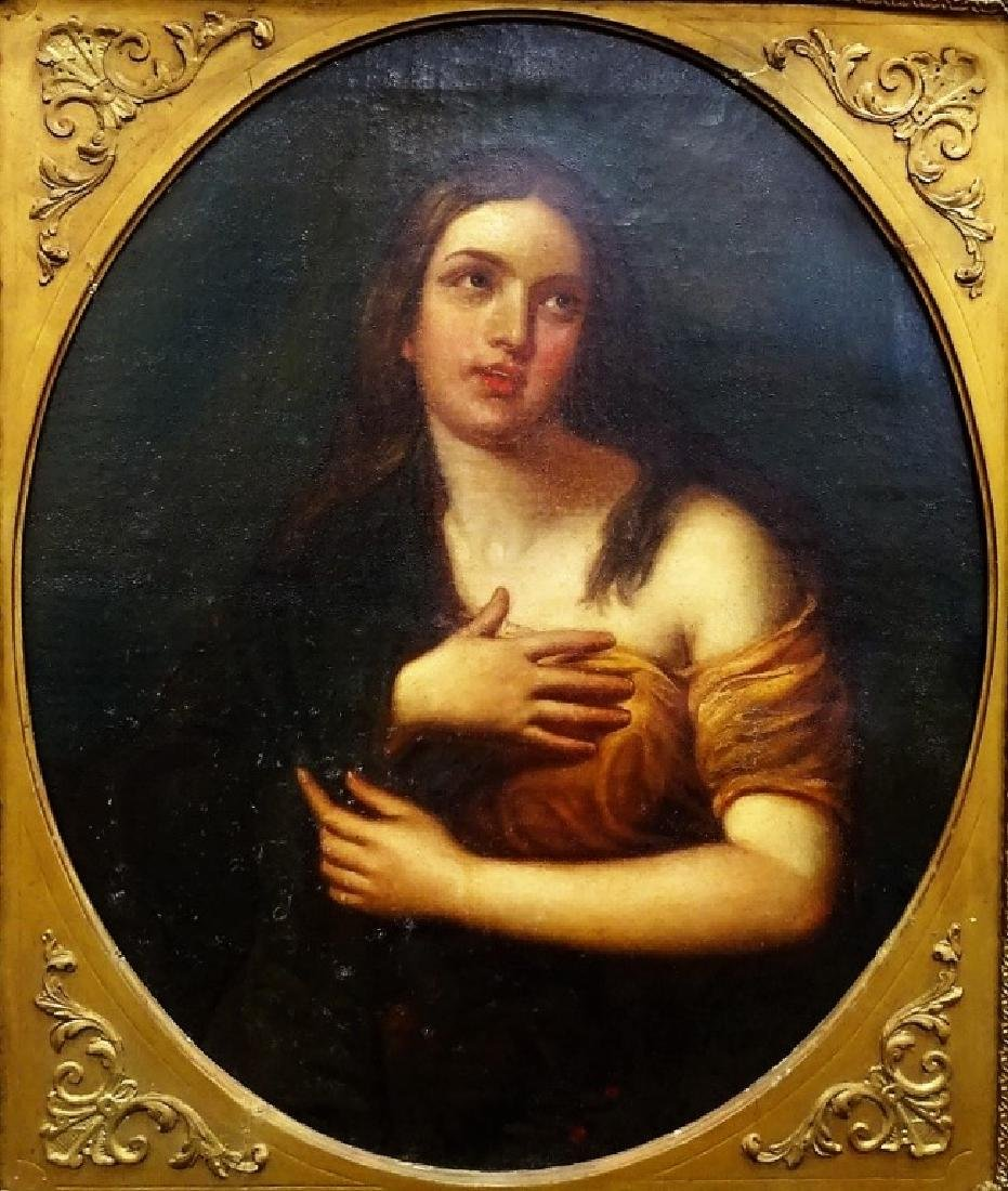 OLD MASTER STYLE PORTRAIT PAINTING ON CANVAS - 2
