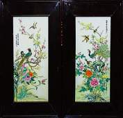 PR CHINESE EXPORT HAND PAINTED PORCELAIN PLAQUES
