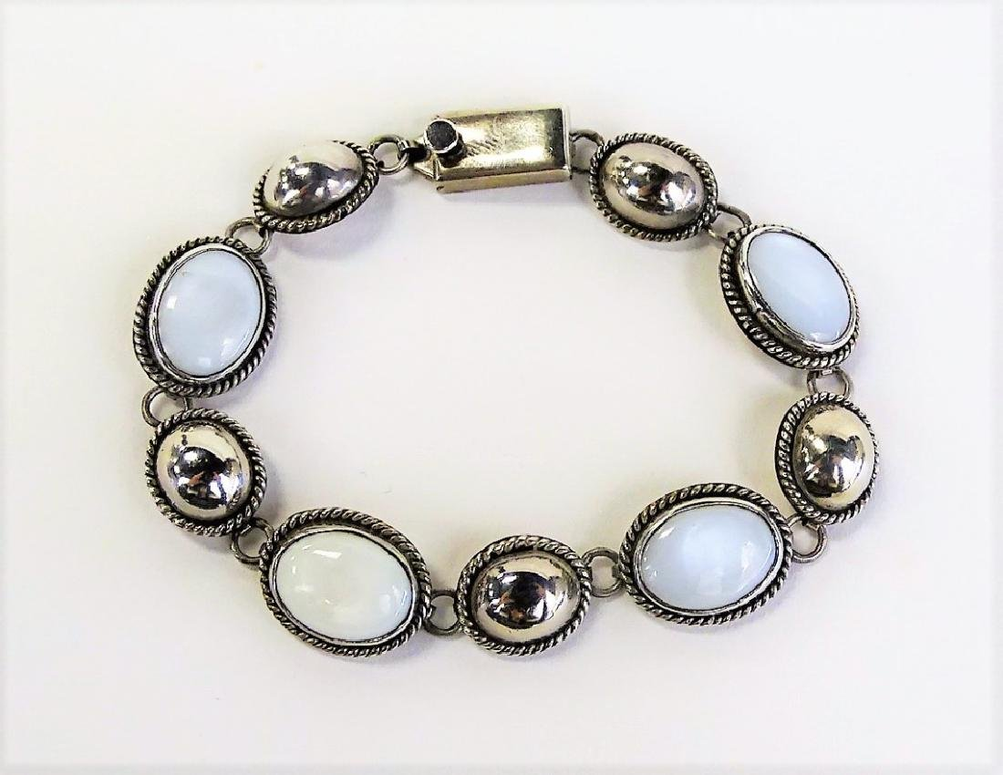 TAXCO MEXICO .925 STERLING & MOONSTONE BRACELET