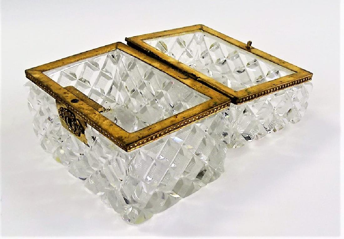 ANTIQUE BACCARAT STYLE FRENCH CRYSTAL DRESSER BOX - 3