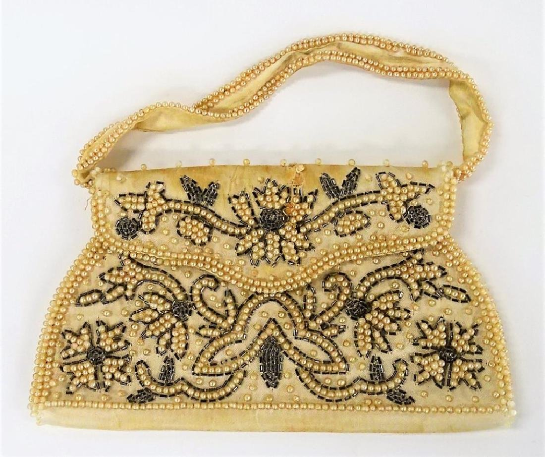 LOT OF 3 VINTAGE BEADED & EMBROIDERED HANDBAGS - 2