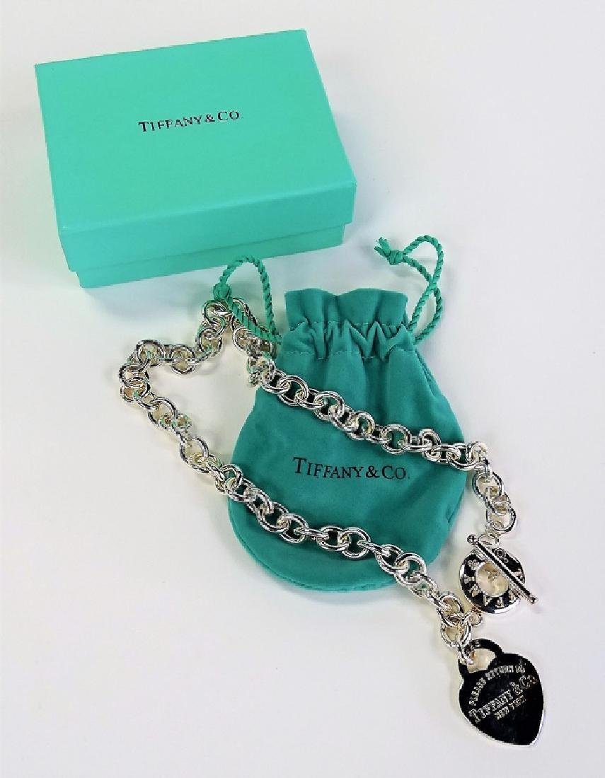 TIFFANY & CO. STERLING SILVER HEART NECKLACE & BOX