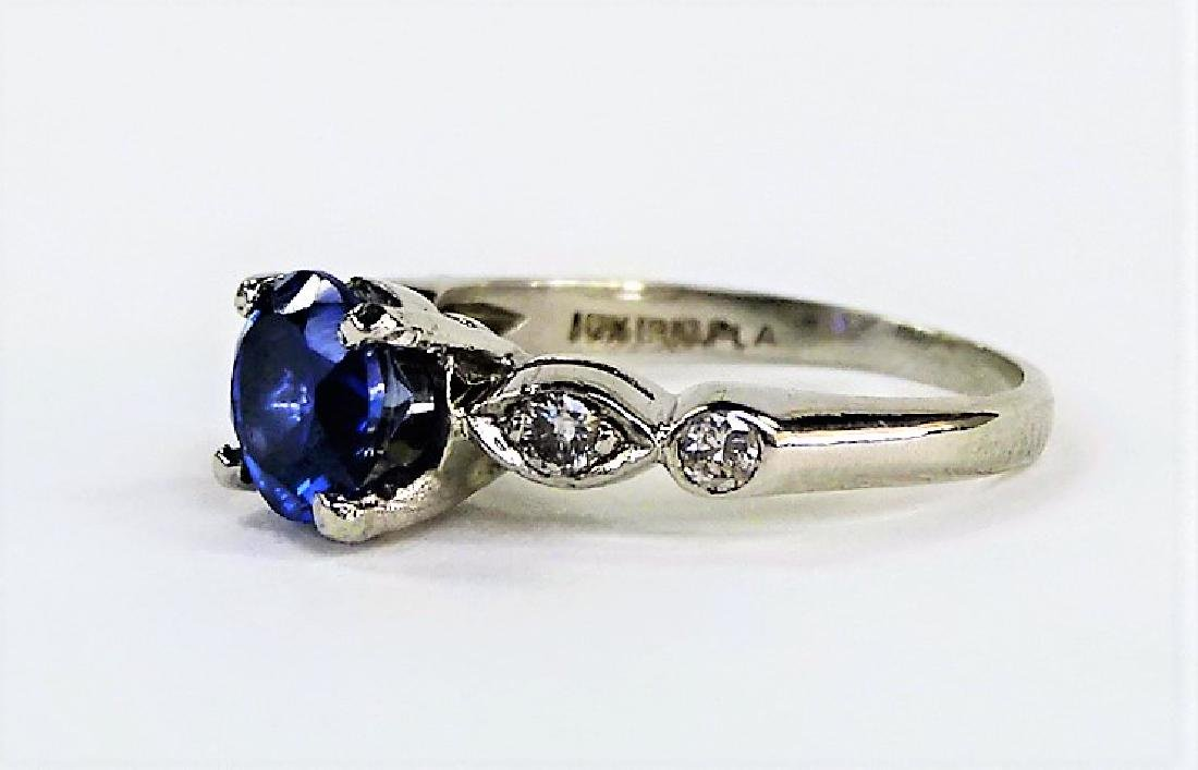 PLATINUM DIAMOND AND TANZANITE LADIES RING - 3