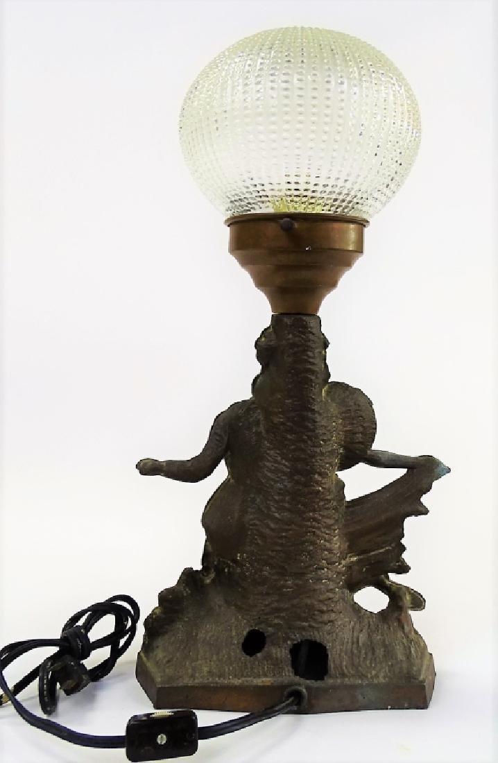 "FABULOUS ART DECO WHITE METAL LAMP ""THE CARIOCA"" - 3"