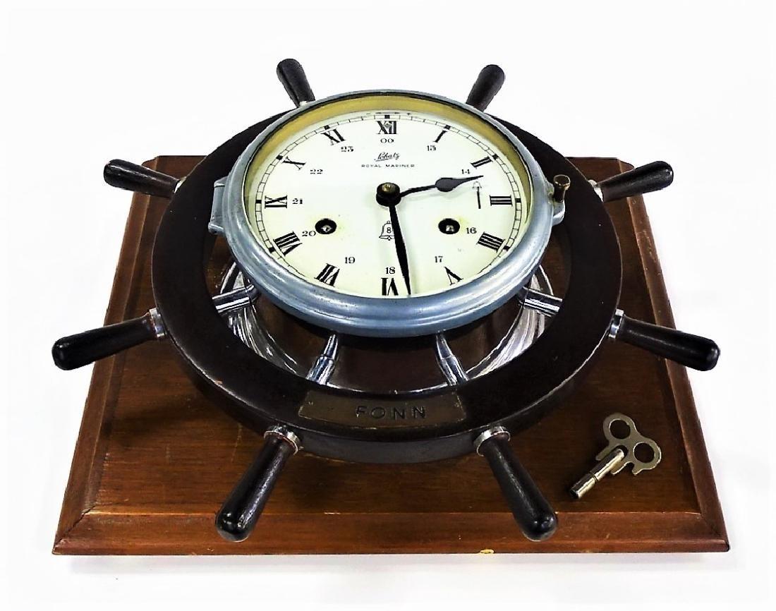 SCHATZ VINTAGE TIME & STRIKE SHIPS CLOCK - 2