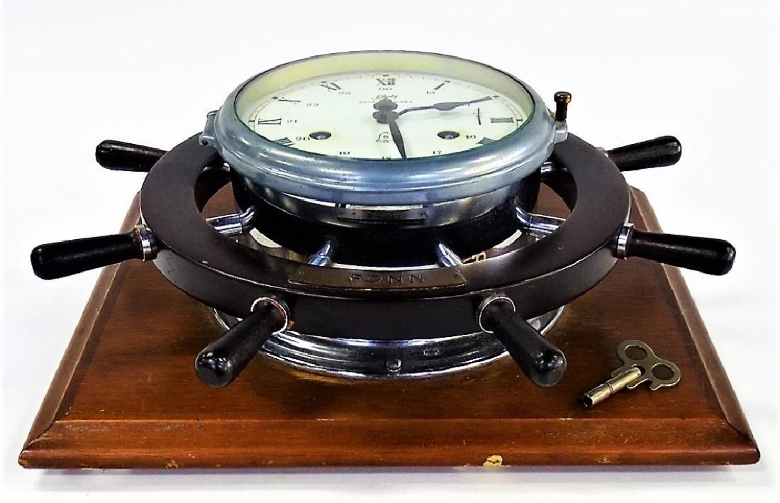 SCHATZ VINTAGE TIME & STRIKE SHIPS CLOCK - 3