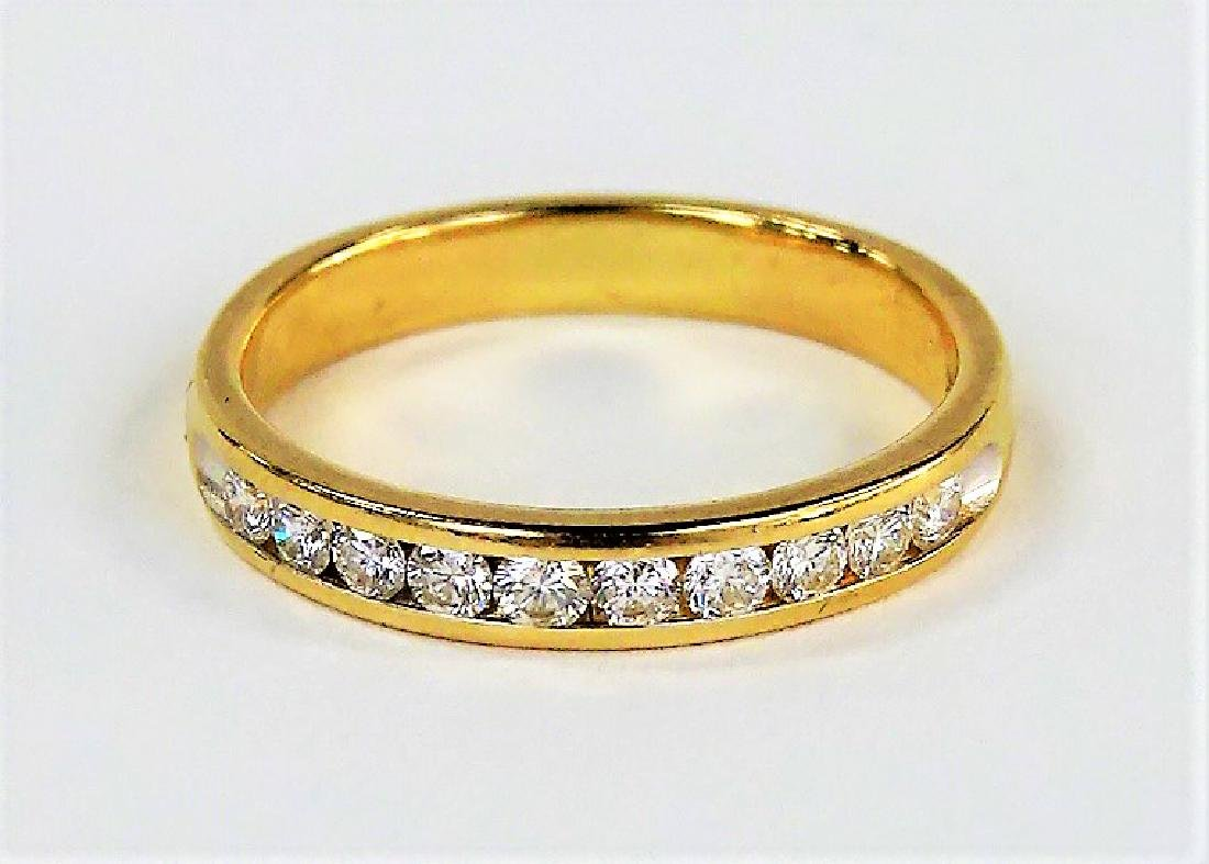 14KT YELLOW GOLD AND LADIES DIAMOND BAND
