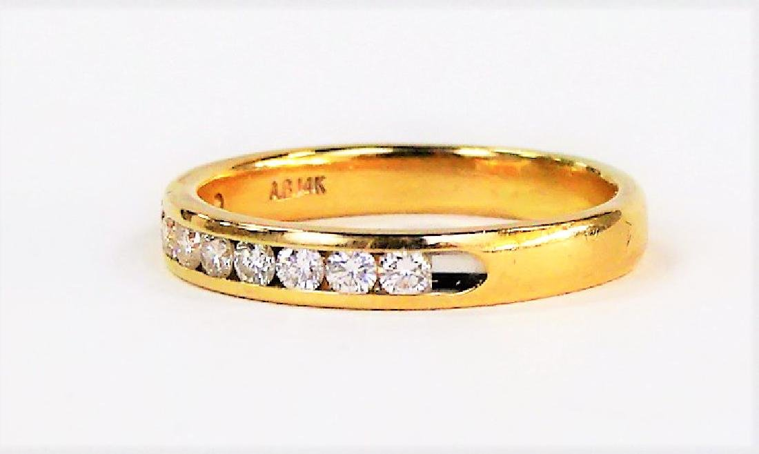 14KT YELLOW GOLD AND LADIES DIAMOND BAND - 2
