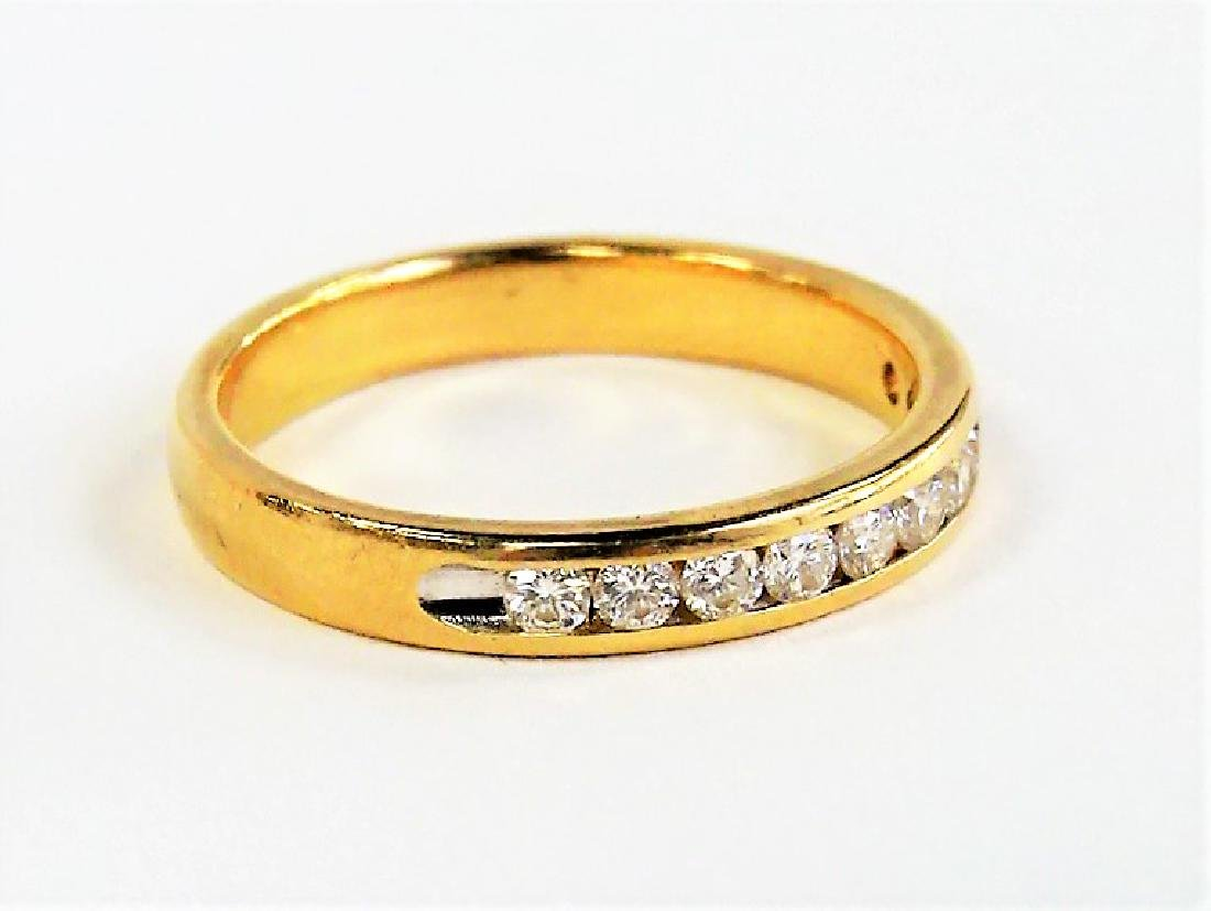 14KT YELLOW GOLD AND LADIES DIAMOND BAND - 3