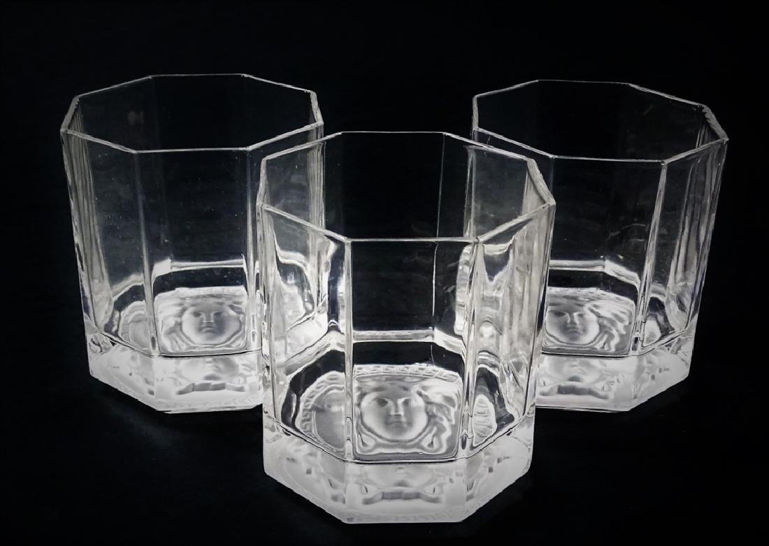 VERSACE MEDUSA ROSENTHAL CRYSTAL TUMBLER GLASSES
