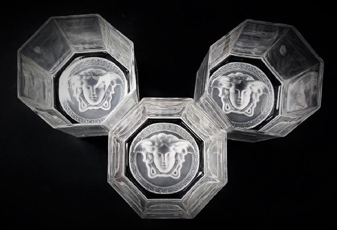 VERSACE MEDUSA ROSENTHAL CRYSTAL TUMBLER GLASSES - 2