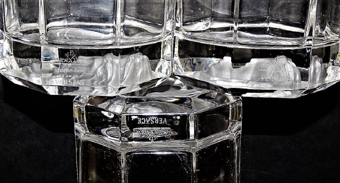 VERSACE MEDUSA ROSENTHAL CRYSTAL TUMBLER GLASSES - 5