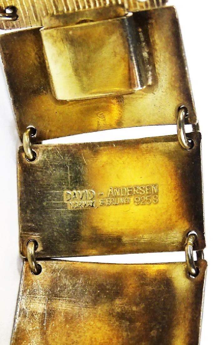 DAVID ANDERSON STERLING SILVER ENAMELED BRACELET - 5