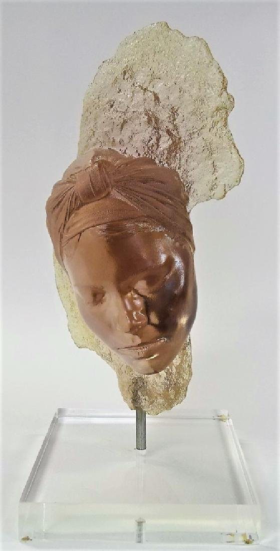 MARC SIJAN LARGE LUCITE BUST WITH STAND - 2