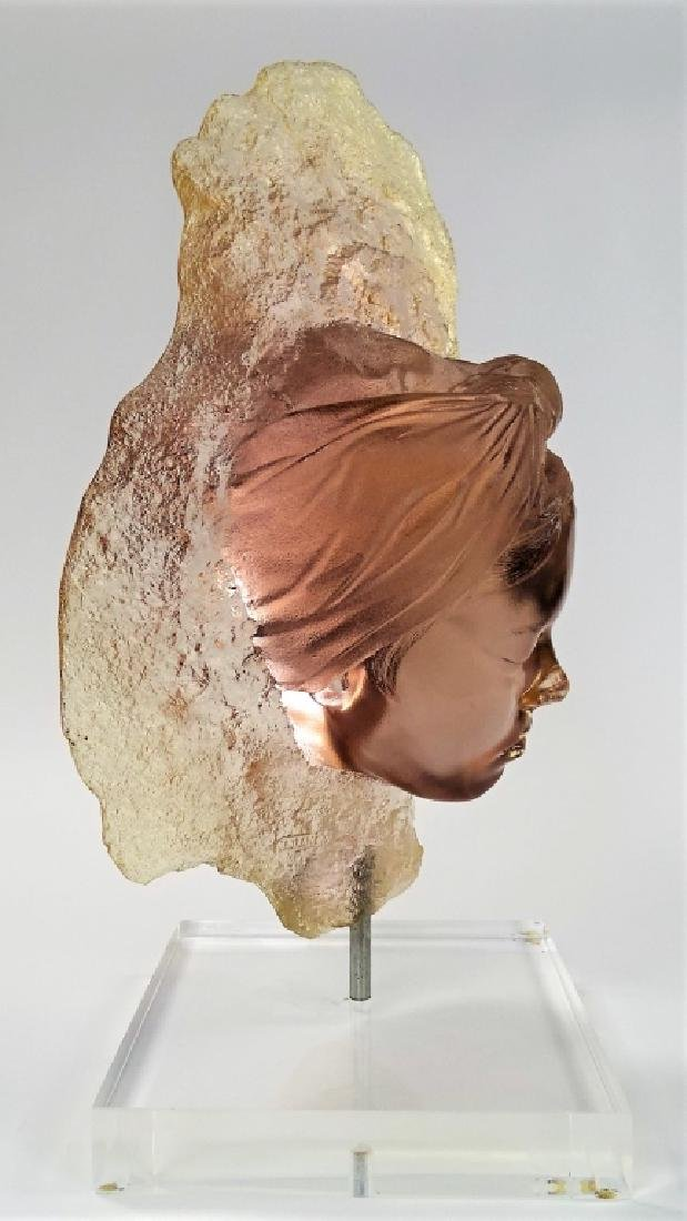 MARC SIJAN LARGE LUCITE BUST WITH STAND - 3