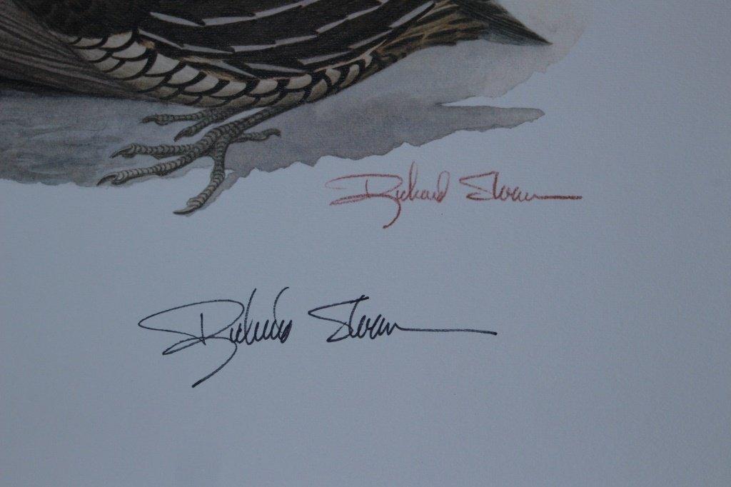 SET OF 2 RICHARD SLOAN SIGNED BIRD PRINTS - 2