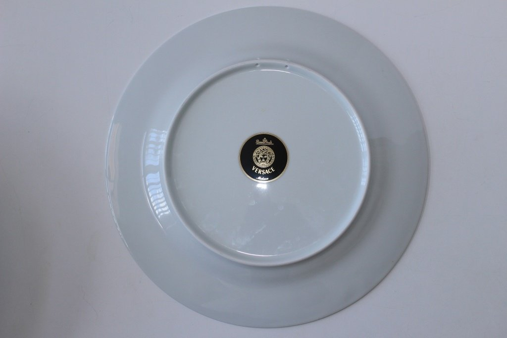 SIX VERSACE ROSENTHAL MEDUSA CHINA CHARGERS - 3