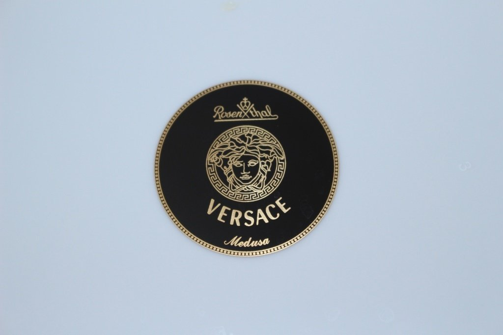 SIX VERSACE ROSENTHAL MEDUSA CHINA CHARGERS - 4