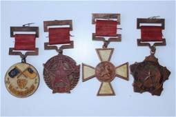 RARE SET OF 4 CHINESE REPUBLIC MEDALS