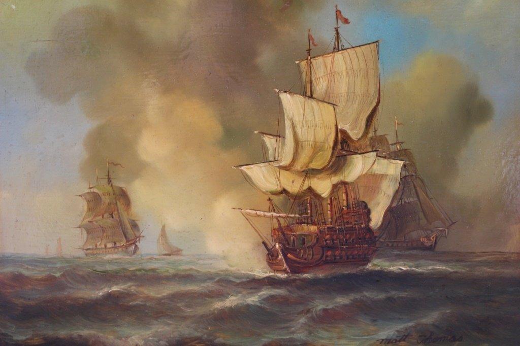 MATT THOMAS ENGLISH SEASCAPE AND BOAT PAINTER