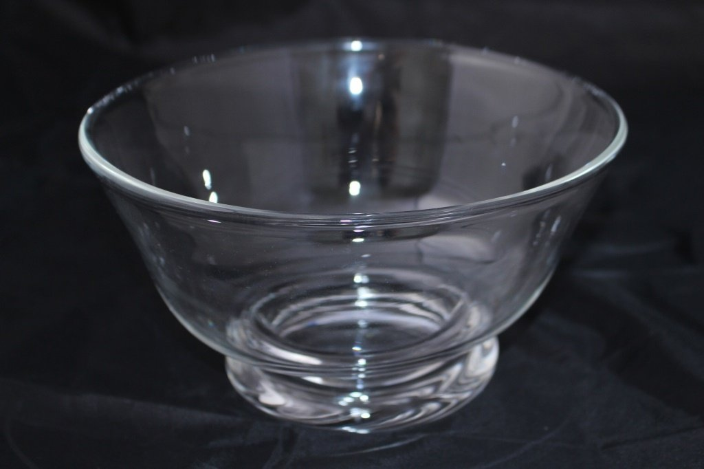 LARGE SIGNED STEUBEN CRYSTAL CENTER BOWL
