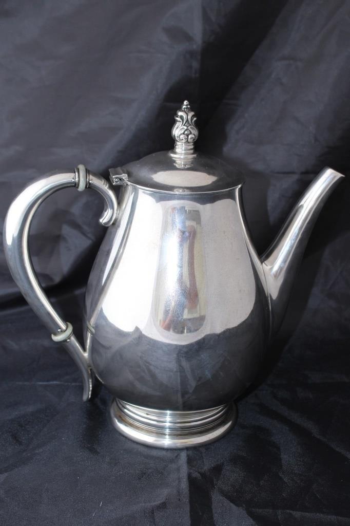 ROYAL DANISH 5 PIECE LARGE STERLING TEA SERVICE - 4
