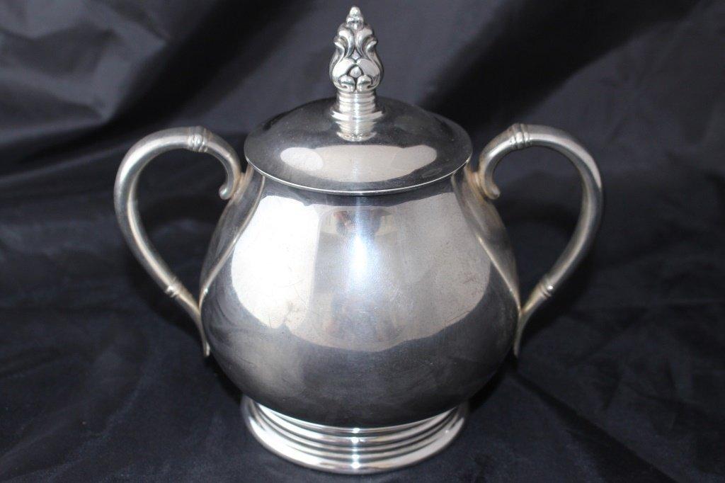 ROYAL DANISH 5 PIECE LARGE STERLING TEA SERVICE - 7