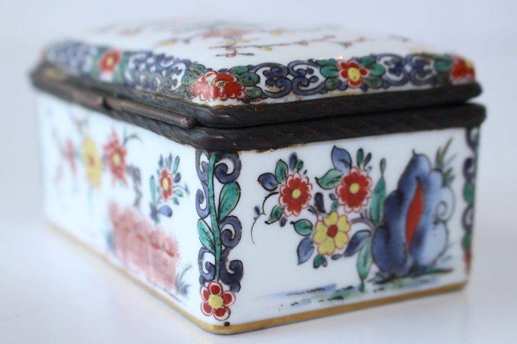 19TH CENTURY FRENCH ORIENTALIST ENAMELED BOX - 6
