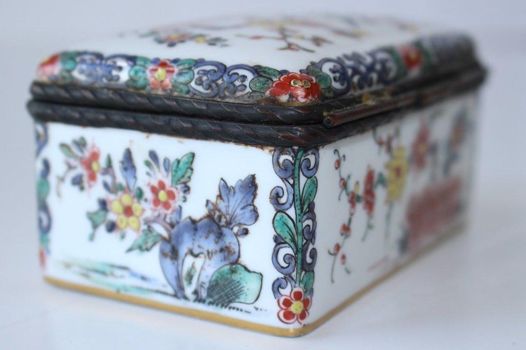 19TH CENTURY FRENCH ORIENTALIST ENAMELED BOX - 7