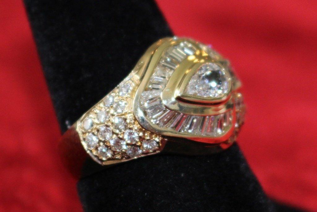 MEN'S 14KT YELLOW GOLD & 1CT DIAMOND ESTATE RING