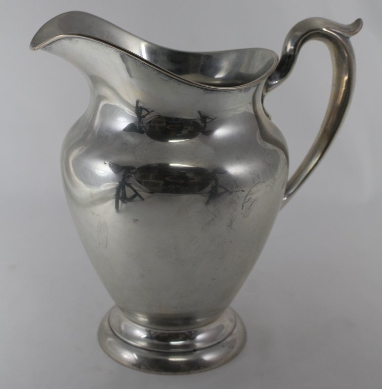 GORHAM LARGE HEAVY STERLING SILVER WATER PITCHER
