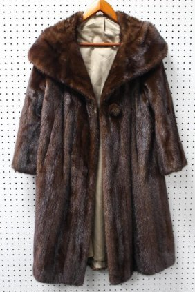 Full Length Womans Mink Coat