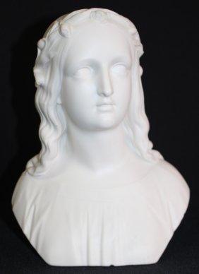 Antique Parian Bust Of A Woman