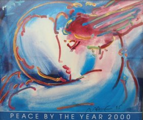Peter Max Peace By The Year 2000lithograph Poster