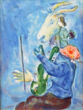 Marc Chagall Original Color Lithograph