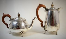 Turn Of The Century Sterling Coffee And Tea Pot