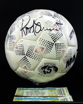 Rod Stewart Signed Soccer Ball From His Concert