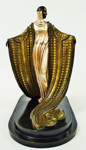 Erte 'la Mysterieuse' Bronze Sculpture