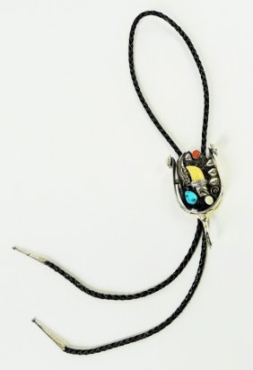 Navajo Vintage Sterling Turquoise Bolo Tie